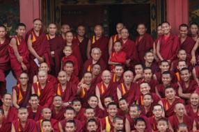 Kopan Yoga Meditation Monastry Kathmandu Nepal Image